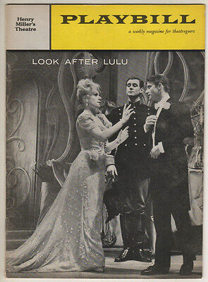 "Noel Coward ""Look After Lulu""  FLOP Playbill 1959  Tammy Grimes"