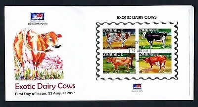2017 ZIMBABWE  - EXOTIC DAIRY COWS new FDC MINISHEET  - 22nd AUGUST 2107
