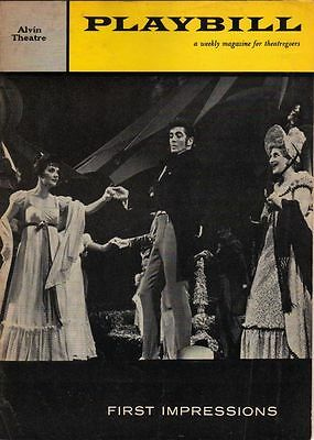 """First Impressions""  Abe Burrows FLOP 1959 Playbill Farley Granger"