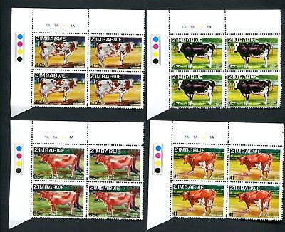 2017 ZIMBABWE  - EXOTIC DAIRY COWS new  A BLOCKS of 4  - 22nd AUGUST 2107