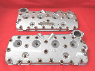 Cylinder Heads PAIR 24 Stud 1949-53 Ford Mercury Flathead V8 scta Hot Rod TROG 5