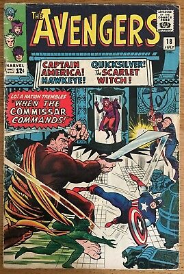AVENGERS Issue 18 Commissar, Marvel Comics July 1965 (12c price cover)