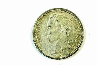1960 Silver 2 Bolivares Coin ESTATE FIND No Reserve