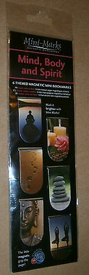 Mini-Marks Mind Body & Spirit Magnetic Bookmarks - New In Sealed Packet