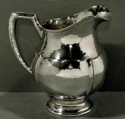 Theodore Starr Sterling Pitcher    c1910    HAND WROUGHT      28 OZ.