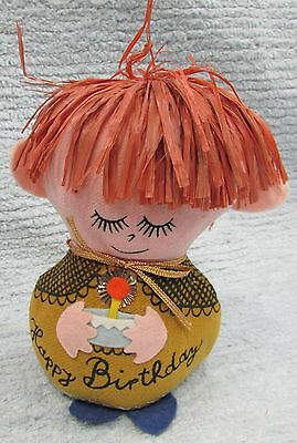 Vintage Western Union Dolly Gram Happy Birthday Doll Character Promo FREE S/H
