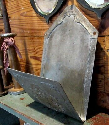 Antique Victorian Era Metal Wall Mount Newspaper or Magazine Holder