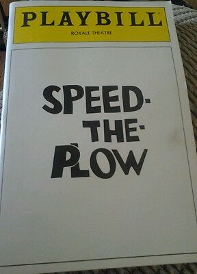 Playbill Royale Theatre Speed The Plow July 1988