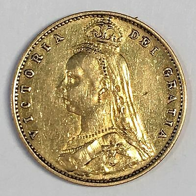 1887 Great Britain Half Sovereign Gold Coin - High Quality Scans #C879