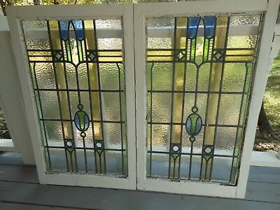 R173 Lovely HUGE Leaded Stained Glass Window From England 2 Available
