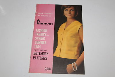 Vintage Penneys Catalog Fashion Fabrics Spring Summer 1964