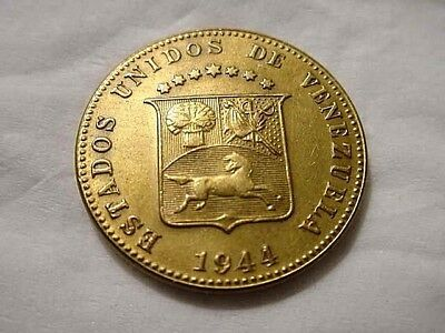 Venezuela 1944-D 12 1/2 Centimos One Year Type Coin (Very Nice)