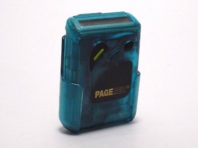 Motorola P10 Personal Pager Green Blue Teal Case PageNet Screen Issues Vintage