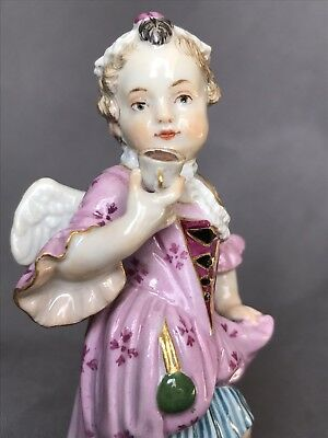Rare Antique German Meissen Porcelain Angel Girl Teacup Figurine Figure Germany