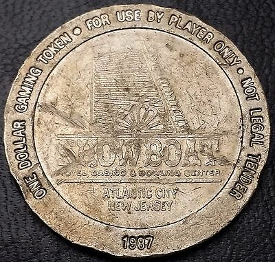 1987 Showboat Hotel And Casino Atlantic City $1 Gaming Token - Free Combined S/h
