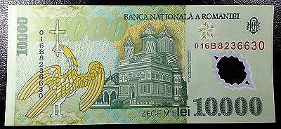 ROMANIA: 2000 Polymer 10,000 Lei Banknote, P-112 **UNC** ◢ FREE COMBINED S/H ◣
