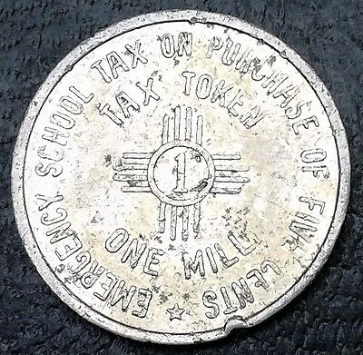 1935 New Mexico Emergency School Tax Token One Mill ◢ FREE COMBINED S/H ◣