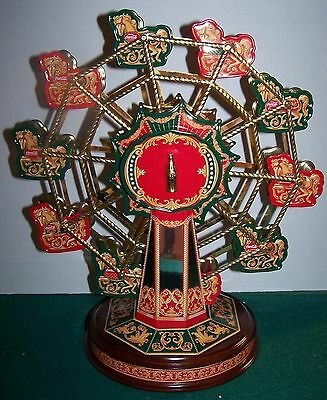 Coca Cola Franklin Mint Wind-Up Musical Ferris Wheel Dated 1999 n mint Box Works