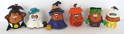 6 Pc Lot Mcdonald's Halloween Nuggets Figures Witch Ghost Pumpkin Mummy More