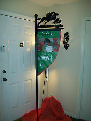 """80"""" Tall-  2015  Kentucky Derby - METAL -  Display Sign/Pole Topper w/ Horses"""