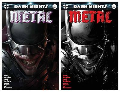 Dark Nights Metal #3 Francesco Mattina Trade And B&w Variant Set Ltd 3000/1500