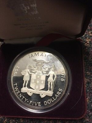 Jamaica 1978 $25 Proof Silver Coin