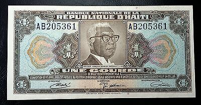 HAITI: 1919 10th Issue 1 Gourde Banknote *XF* - P-200 - FREE COMBINED S/H