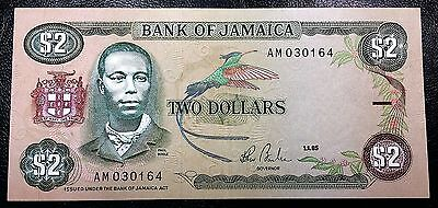 JAMAICA: 1985 $2 Banknote P-69a Sign. 7 **UNC CONDITION** FREE COMBINED S/H