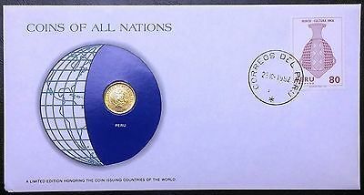 Coins of all Nations Series - 1978 Peru 1 Sol - Coin & Stamp Set - BU