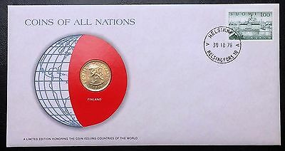 Coins of all Nations Series - 1978 Finland 20 Pennia - Sealed in COA Card - BU