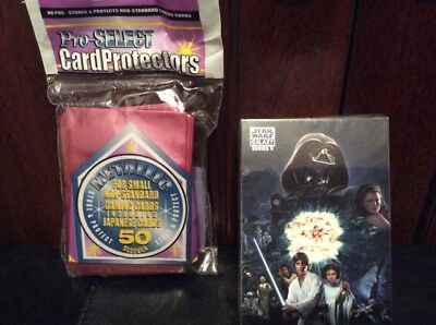 2010 topps star wars galaxy card deck series 5 full set and card protectors