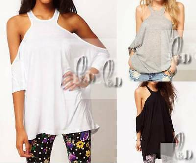 WHOLESALE BULK LOT OF 10 MIXED COLOUR SIZE Sexy Off Shoulder Slouchy Top T011