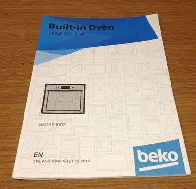genuine beko bxif35300x built in oven instruction manual user guide rh picclick co uk Smeg Fridge Beko Fridge 250L