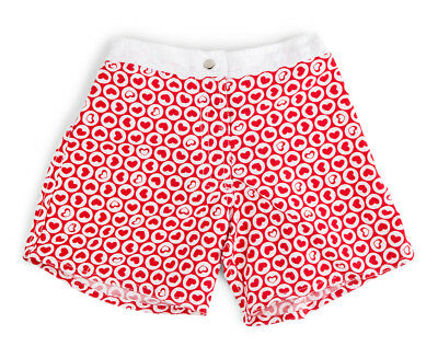 Cupid Girl Baby/Toddler Bubble Hearts Boardshort - Fire Red