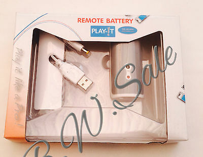 Rechargeable Remote Battery Pack - Nintendo Wii Remote Controller White Play It