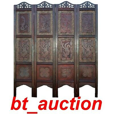 New 4 Panel Wood Double Sided Room Divider (Scn-Fg135)