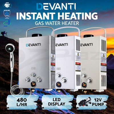 Instant Gas Hot Water System Heater Portable Shower Camping LPG Caravan 4WD Pump
