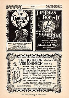 Eight 1896 1897 Crawford Bicycle Bike Ads-Hagerstown,md