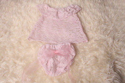 Photography Prop,Sitter 9-12 month  Baby Girl Top and Pant Set for photography