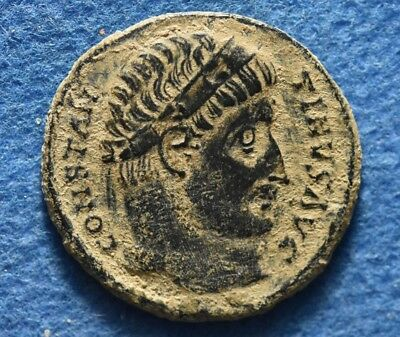 Saint CONSTANTINE I. The Great 307-337AD. Camp Gate Ancient Roman Imperial coin.