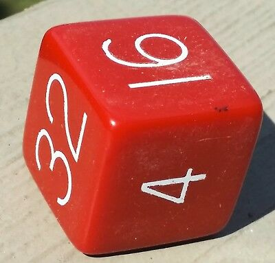 """Vintage 1"""" Red Bakelite Backgammon Doubling Cube 1960's No Reserve See pictures"""