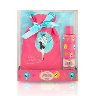 Disney Tinker Bell Cosy Gift Set Hot Water Bottle & Bubble Bath Gift Boxed