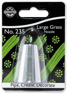 JEM Large Grass Piping Nozzle no. 235 Cake Decorating Stainless Steel Tool
