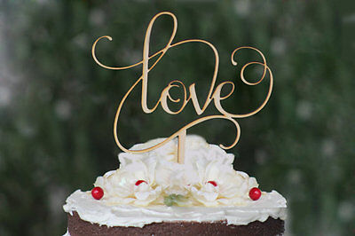 NEW Our stunning wooden LOVE  Wedding cake Toppers
