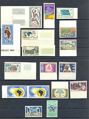Centrafricaine 1960/67  17  Stamps Imperf **  Mnh