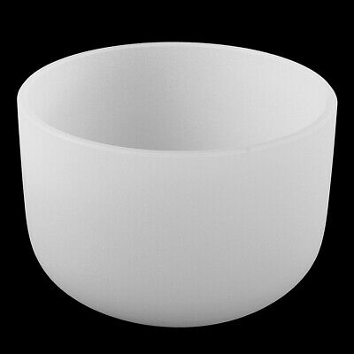 Quartz Crystal Singing Bowl Frosted E Note Solar Chakra Excellent Quality 8""