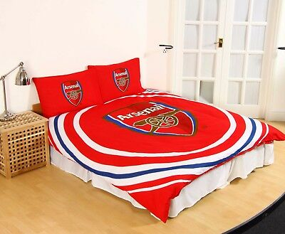 New ARSENAL F.C. Football Club Duvet Quilt Cover Set Boys Kids - Double Bed Size