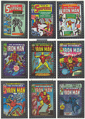 "Iron Man 2 - ""Comic Covers Cards"" Set of 9 Chase Cards #CC1-9"