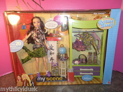 2003 My Scene NOLEE Getting Ready My Room Gift Set Doll  and 20+ Pieces NRFB