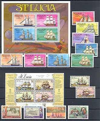 ENGLISH COLONY ST LUCIA  49  ST.+ 2 x BL.     SHIPS     ** MNH   VF